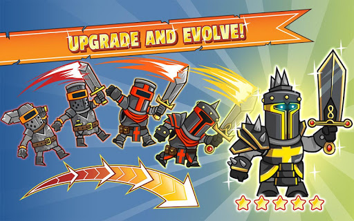 upgrade and evolve your characters